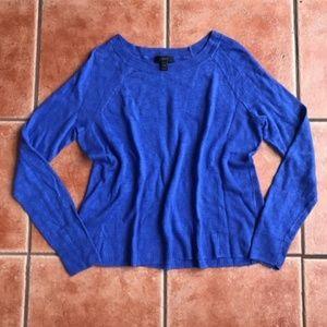 J.Crew Blue Garment-dyed 100% Linen Swing Sweater